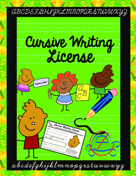 Cursive Writing License Template