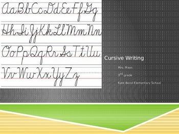 Cursive Writing N-Z PPT