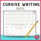 Cursive Handwriting Practice Packets