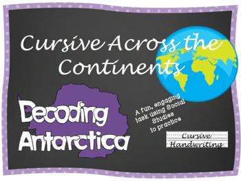 Cursive Writing Practice- Cursive Across the Continents: Decoding Antarctica