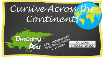 Cursive Writing Practice- Cursive Across the Continents: Decoding Asia