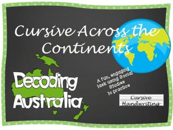 Cursive Writing Practice- Cursive Across the Continents: Decoding Australia