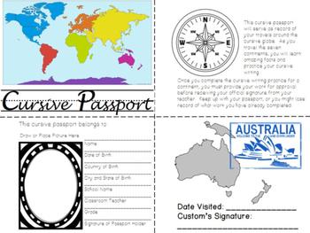 Cursive Writing Practice- Cursive Passport