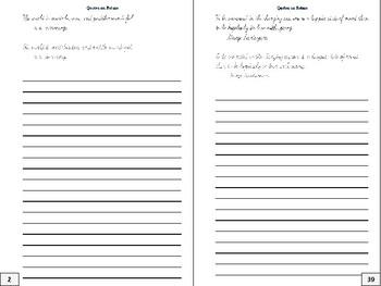 Cursive Writing Practice Journal: Nature Quotes #2