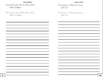 Cursive Writing Practice Journal: Nature Quotes