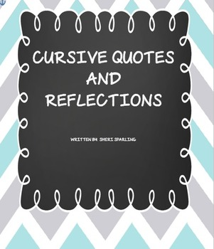 Cursive Writing Quote Reflection for Older Grades
