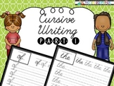 Cursive Handwriting - Short words