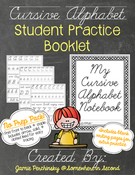 Cursive Writing Student Practice Booklet