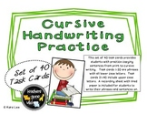 Cursive Writing Task Cards - Set of 40