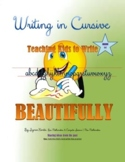 CURSIVE HANDWRITING EXERCISES,  WORD-PICTURE ASSOCIATIONS & COLORING EXERCISES
