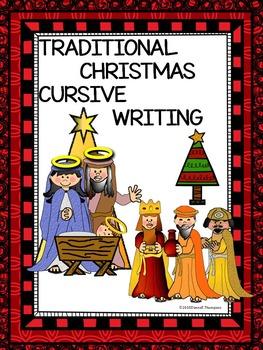 Cursive Writing: Traditional Christmas Song Titles (Worksheets)