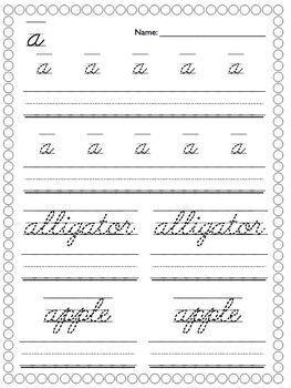 Cursive Writing Unit