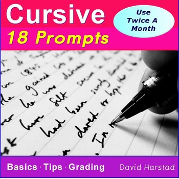 Cursive Writing Worksheets | 18 Printable Handwriting Prompts (Grades. 3-7)