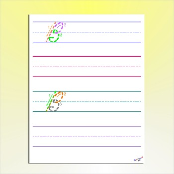Cursive Practice - Cursive Writing Worksheets - Color Coded Cursive Letters