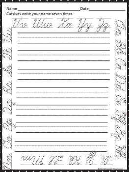 Cursive Writing: Handwriting Practice (Write Your Name)