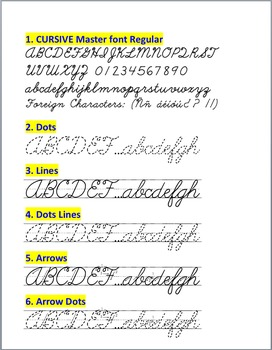Cursive Writing family font (6 fonts)