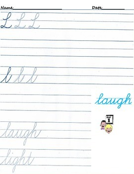 Cursive Writing for April Fool's Day