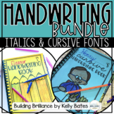 Cursive and Italics Handwriting Practice Units Bundle