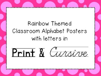 Cursive and Manuscript Alphabet Posters