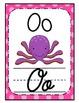 Cursive and Manuscript Alphabet Posters {Bright Polka Dot}