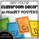 Cursive and Print Alphabet Posters - Any Color Classroom Decor
