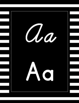 Cursive and Print Alphabet Posters FREE