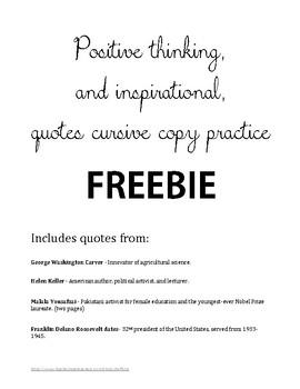Cursive copywork FREEBIE