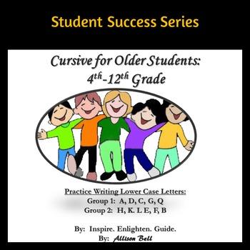 Cursive for Older Students: 4th-12th Grade