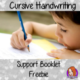 Cursive handwriting support booklet