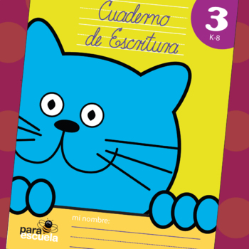 Cursive handwriting workbook 3 in spanish