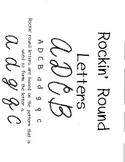 Cursive practice- Rockin Round Letters