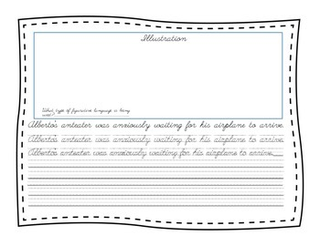 Cursive practice using figurative Language