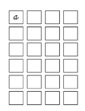 Cursive worksheet A-Z in a box - lowercase