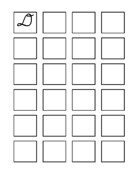 Cursive worksheet A-Z in a box - uppercase