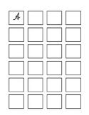 Cursive worksheet A-Z in a box - uppercase