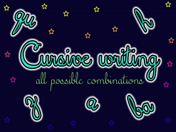 Cursive writing   all possible combinations of letters by Letters