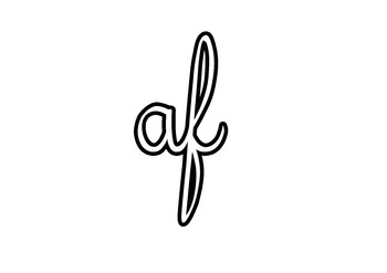 Cursive writing - all possible combinations of letters