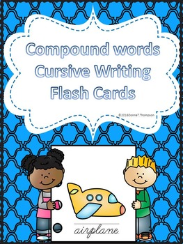 Cursive Writing: Compound Words (Flash Cards Worksheets)