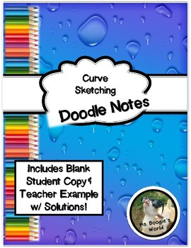 Curve Sketching Doodle Notes Package