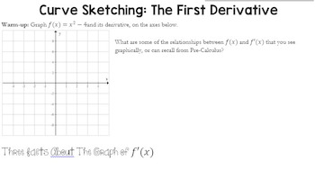 Curve Sketching f(x) and the derivative