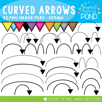 Curved Arrows Pack - Clipart for Teachers