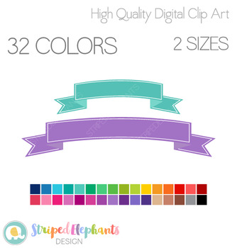 Curved Banners Clip Art