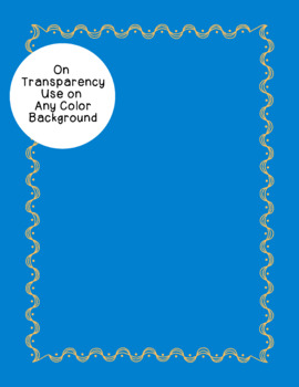 Curves and Dots Borders Clip Art PNG JPG Blackline Included Commercial Personal
