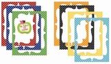 Digital Curvy Frames: Primary Dots