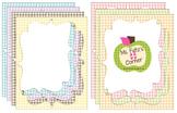 Digital Curvy Frames: Pastel Gingham
