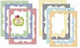 Digital Curvy Frames: Primary Gingham