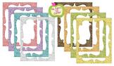 Digital Curvy Frames: Pastel Glitter
