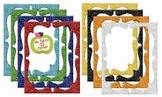 Digital Curvy Frames: Primary Glitter