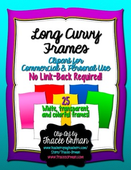 Curvy Long Frames Tags for Commercial Use No Link Required
