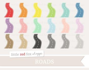 Curvy Road Clipart; Travel, Road Trip